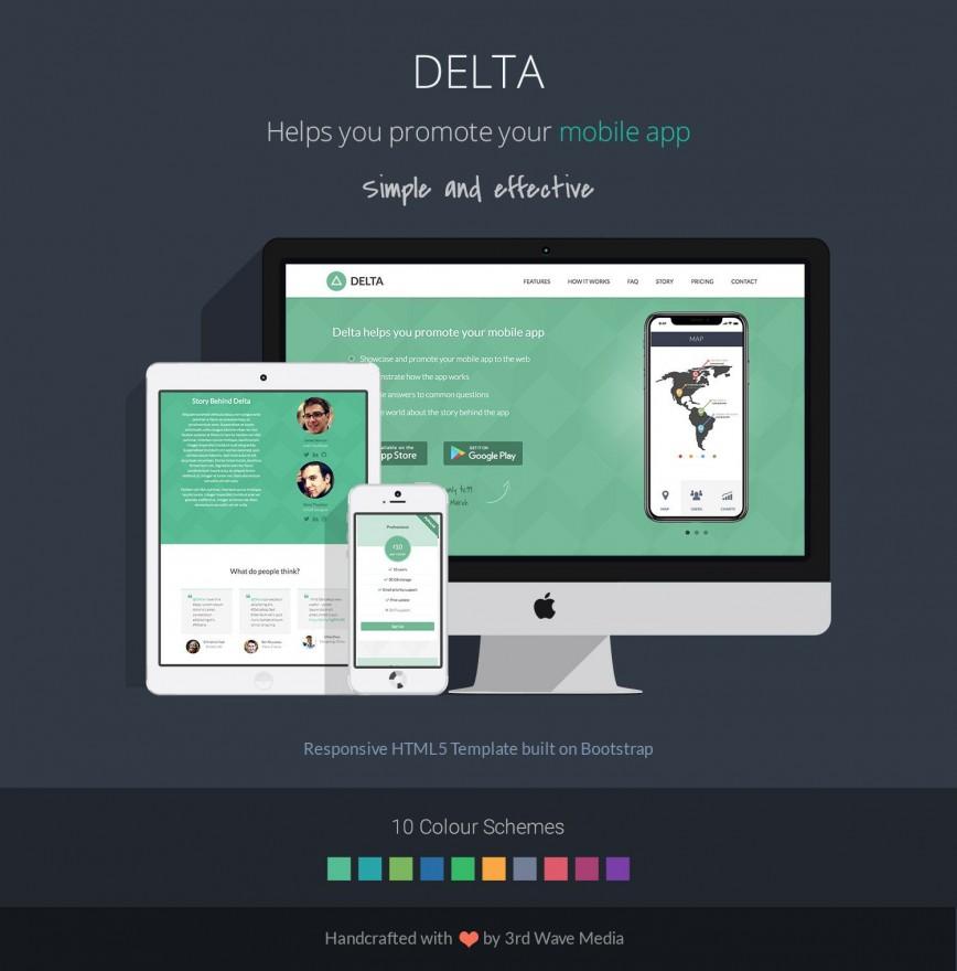 009 Surprising Bootstrap Mobile App Template Design  4 Free Download Web