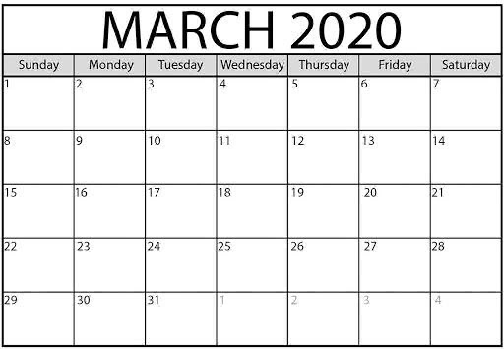 009 Surprising Calendar 2020 Template Word Picture  Monthly Doc Free DownloadLarge
