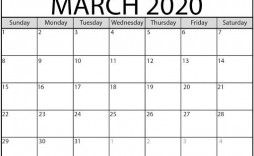 009 Surprising Calendar 2020 Template Word Picture  Monthly Doc Free Download