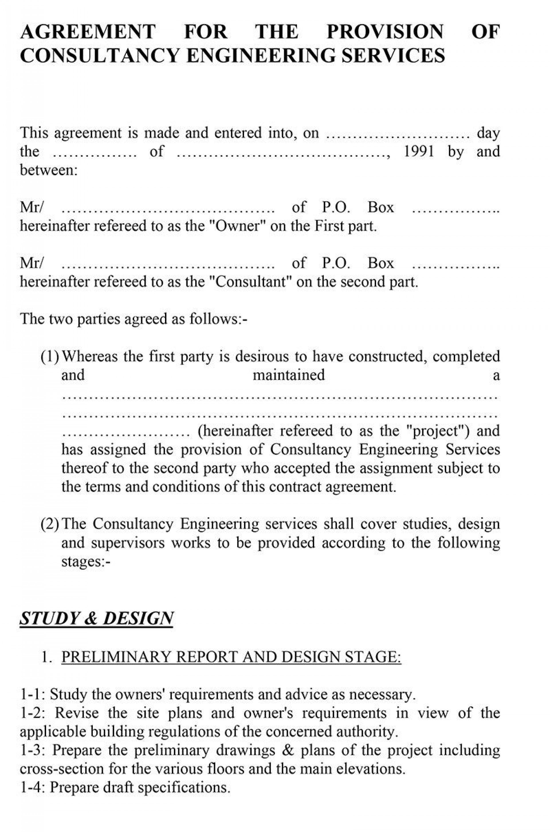 009 Surprising Consulting Service Agreement Template Image  Sample With Retainer Form Australia1920