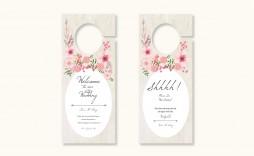 009 Surprising Door Hanger Template For Word Inspiration  Download Free Wedding Microsoft