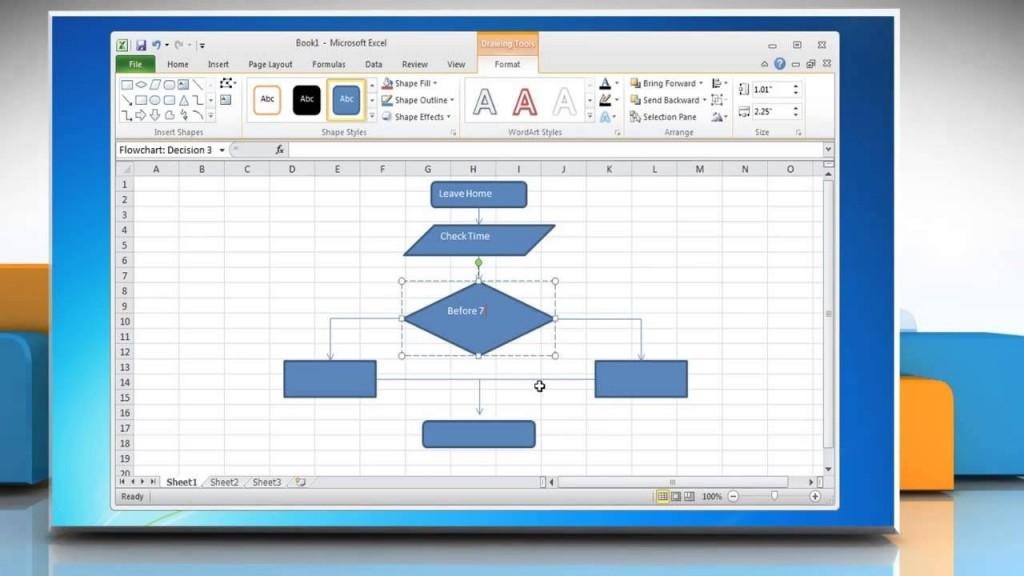 009 Surprising Flow Chart Microsoft Excel High Resolution  Flowchart TemplateLarge