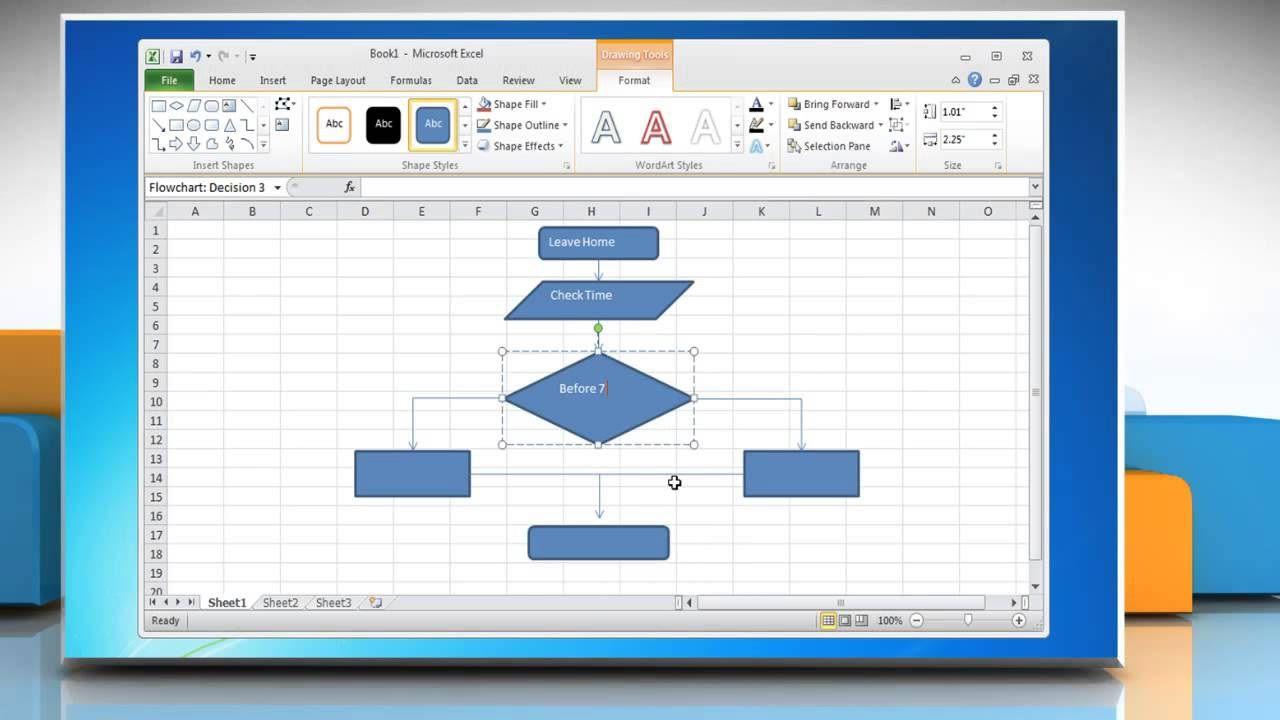 009 Surprising Flow Chart Microsoft Excel High Resolution  Flowchart TemplateFull