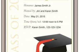 009 Surprising Free Graduation Announcement Template Picture  Invitation Microsoft Word Printable Kindergarten