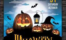 009 Surprising Free Halloween Party Flyer Template Example  Templates
