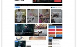 009 Surprising Free Responsive Blogger Template One Column High Definition