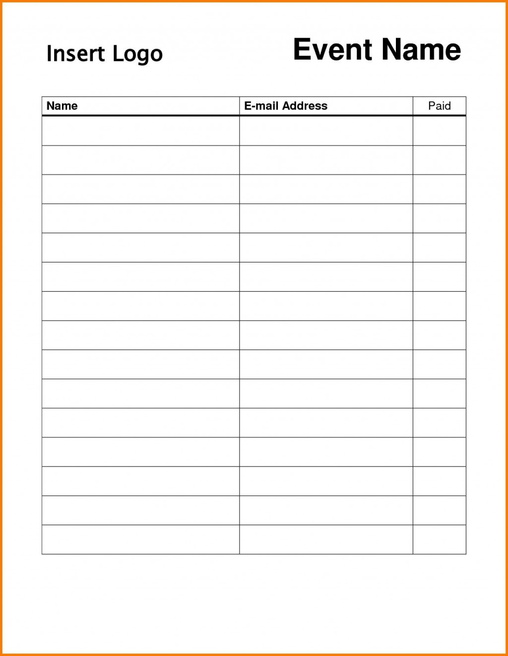 009 Surprising Free Sign Up Sheet Template Photo  Printable Potluck Word Blank Google DocLarge