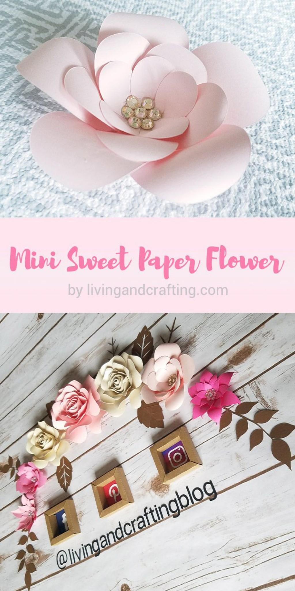 009 Surprising Paper Flower Template Free Sample  Rolled Svg Rose Cricut PdfLarge