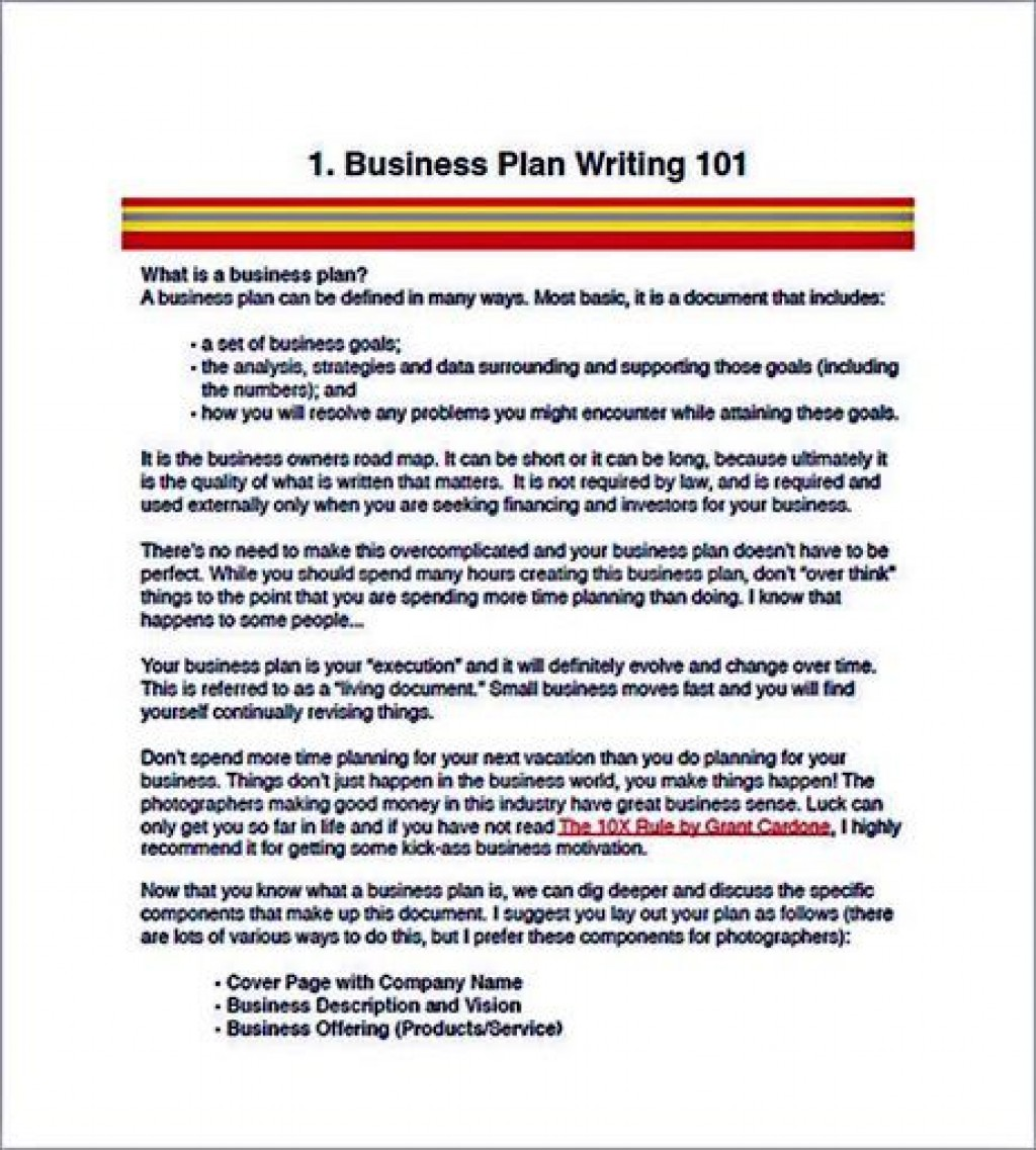 009 Surprising Photography Busines Plan Template Free Picture  Sample Doc DownloadLarge