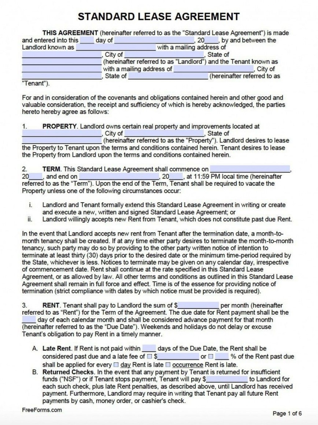 009 Surprising Rental Agreement Template Word Canada Highest Clarity Large