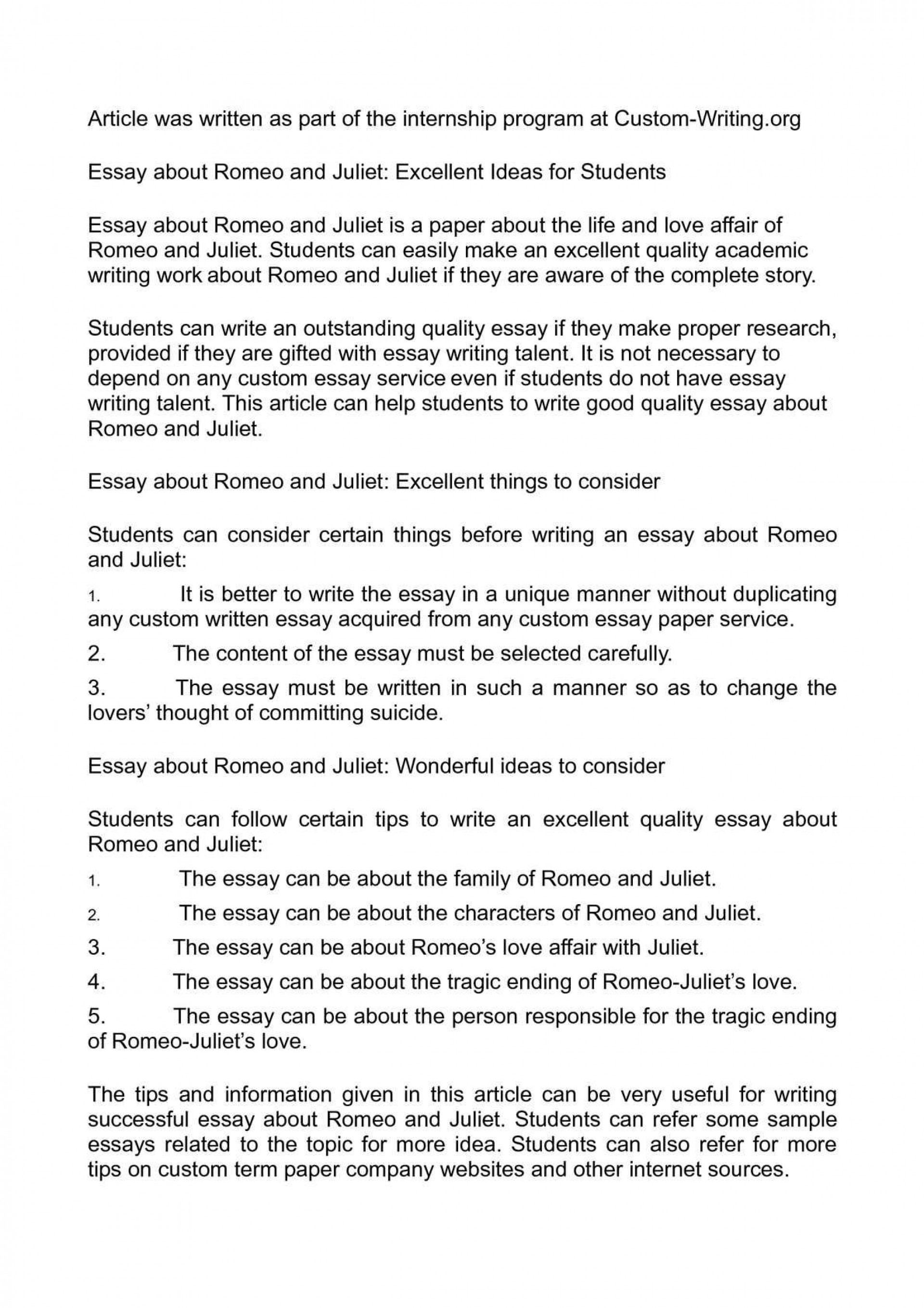 009 Surprising Romeo And Juliet Essay Photo  Who I Responsible For Juliet' Death Introduction Hook Question Pdf1920