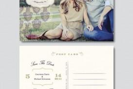 009 Surprising Save The Date Postcard Template Photo  Diy Free Birthday