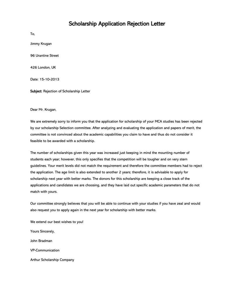 009 Surprising Scholarship Award Letter Template High Resolution  Templates Example To UniversityFull