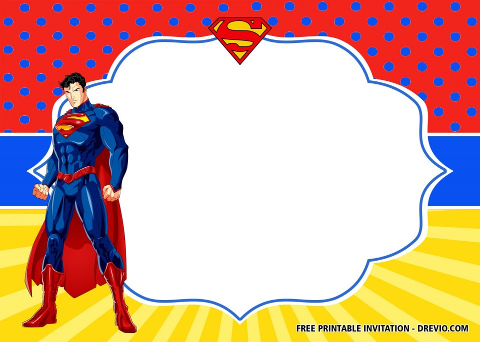 009 Surprising Superhero Birthday Invitation Template Free Concept 960