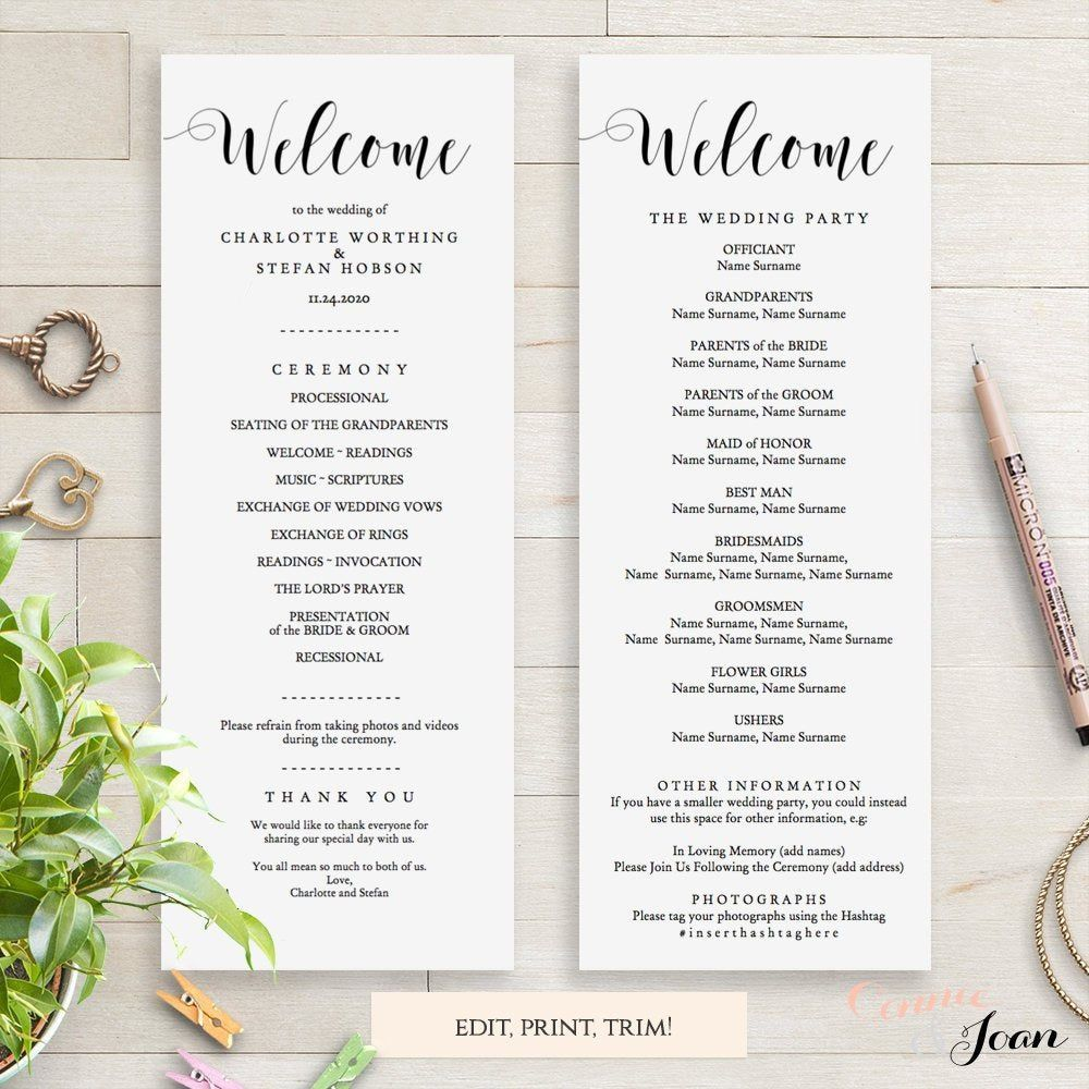 009 Surprising Wedding Order Of Service Template Pdf Design Full