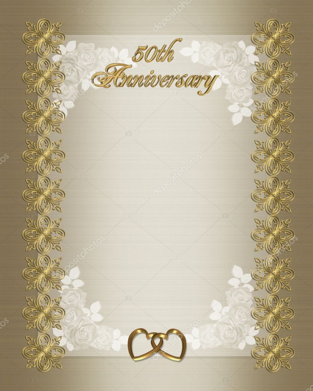009 Top 50th Anniversary Invitation Card Template Photo  Templates FreeLarge