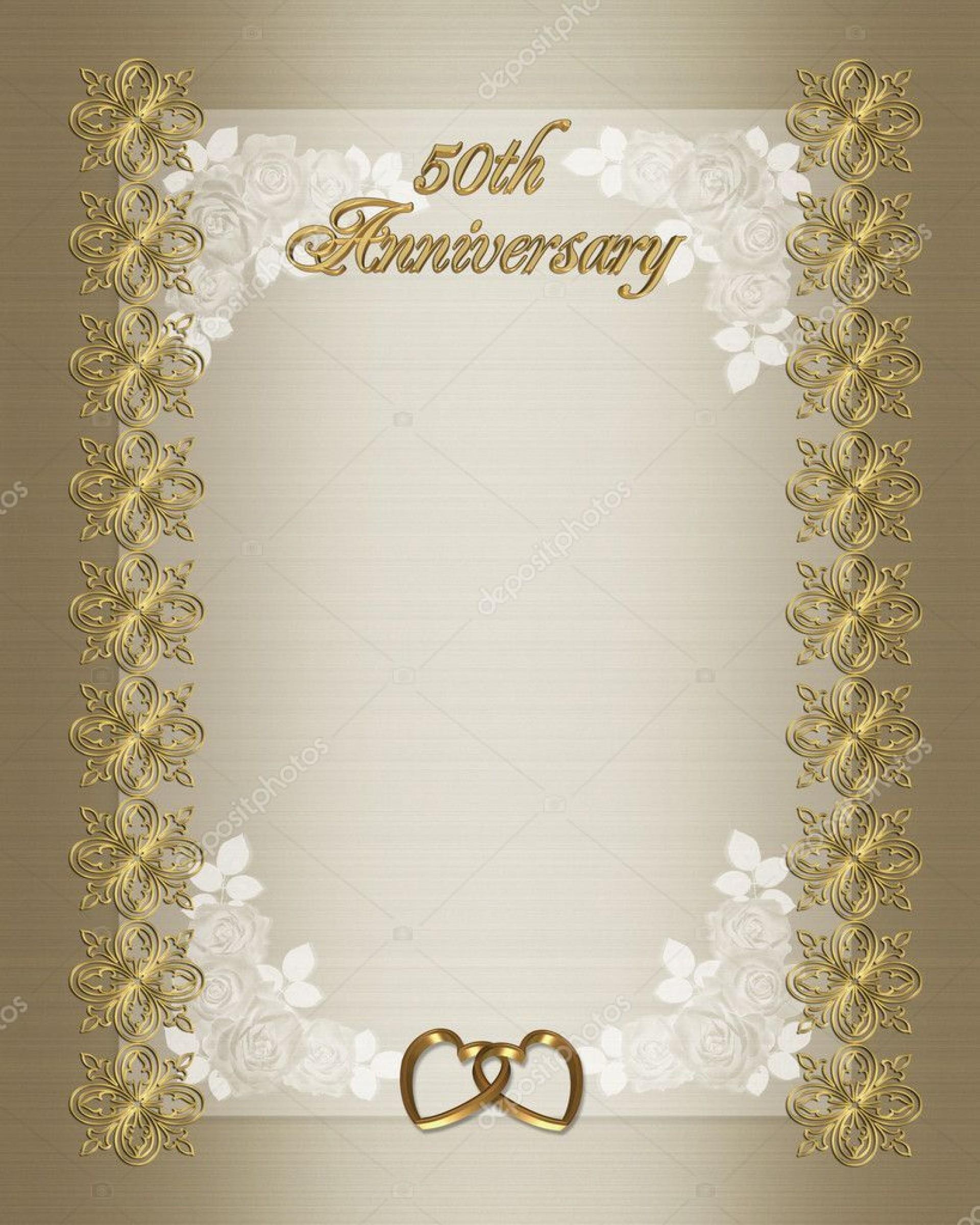 009 Top 50th Anniversary Invitation Card Template Photo  Templates Free1920