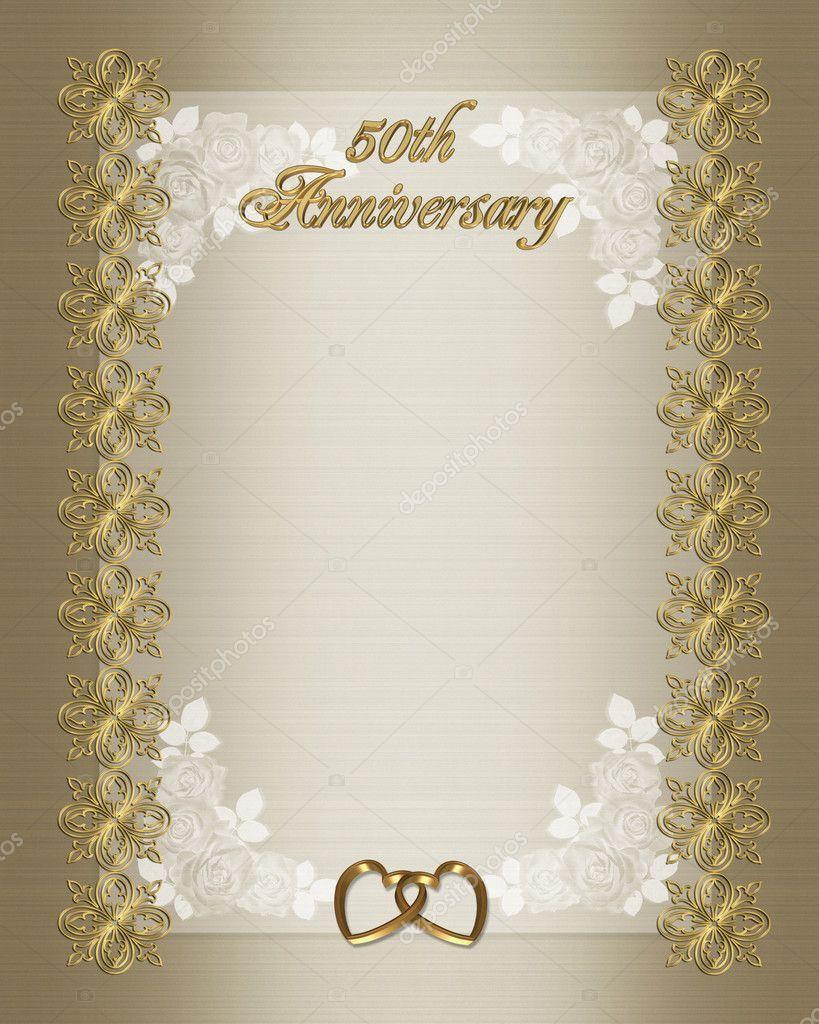 009 Top 50th Anniversary Invitation Card Template Photo  Templates FreeFull