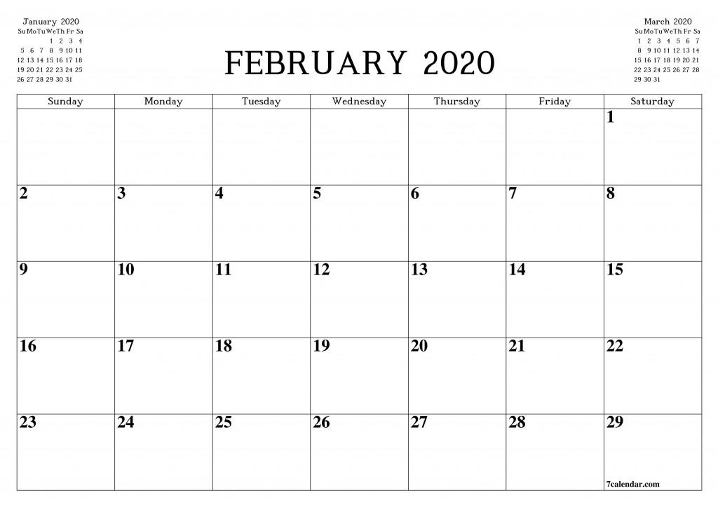 009 Top Blank Monthly Calendar Template Pdf Sample  2019 PrintableLarge