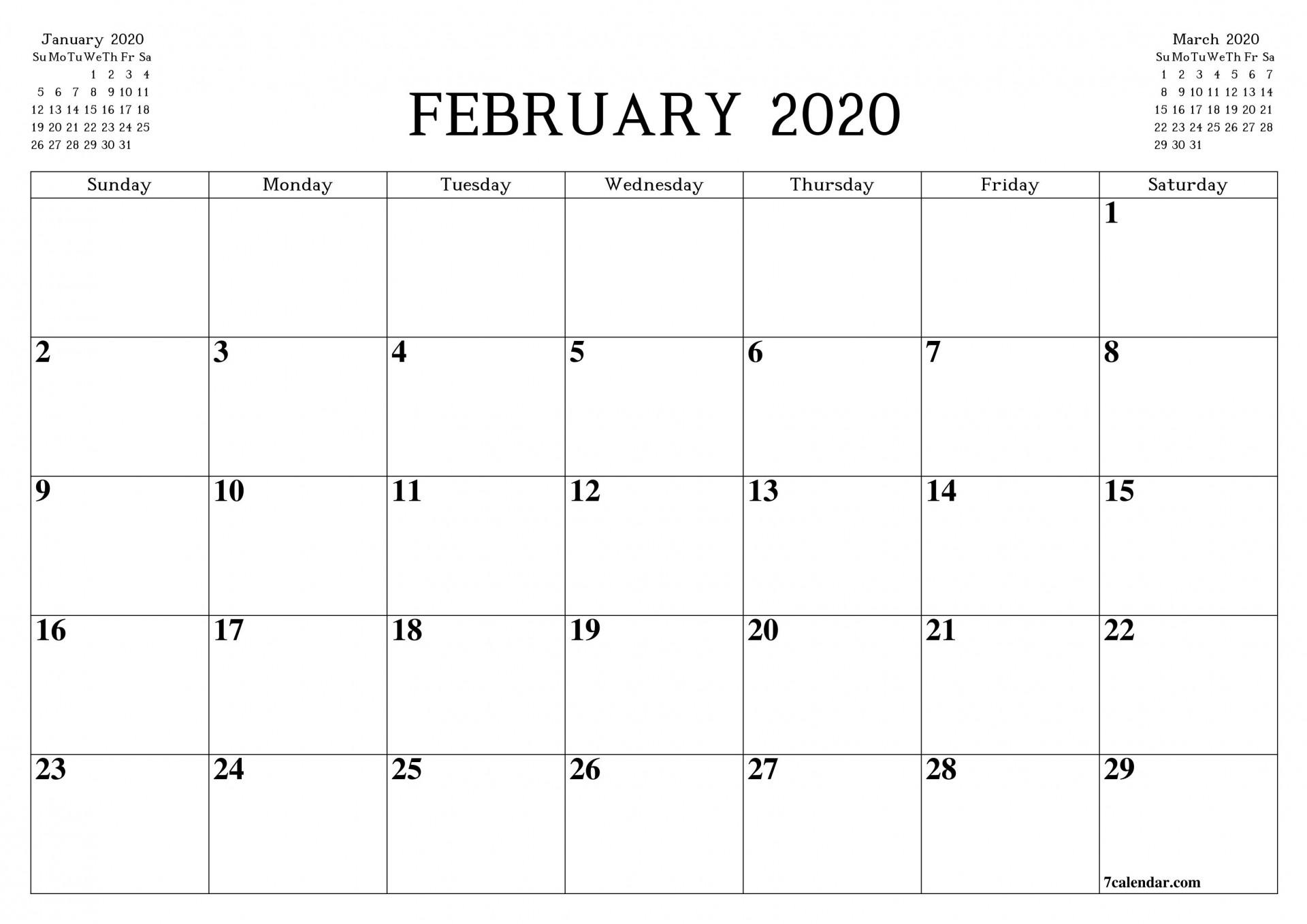 009 Top Blank Monthly Calendar Template Pdf Sample  2019 Printable1920