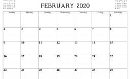 009 Top Blank Monthly Calendar Template Pdf Sample  2019 Printable
