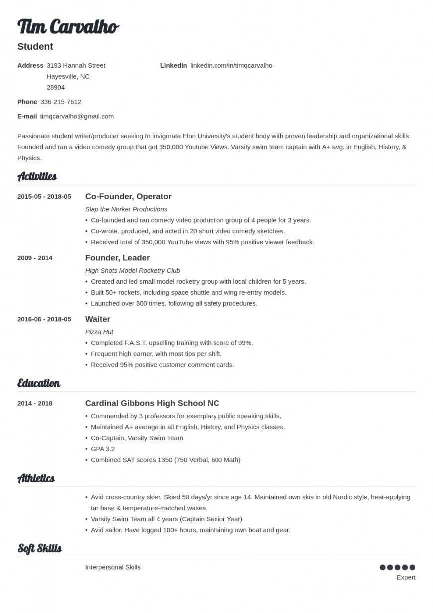 009 Top College Admission Resume Template High Def  Microsoft Word Application Download868