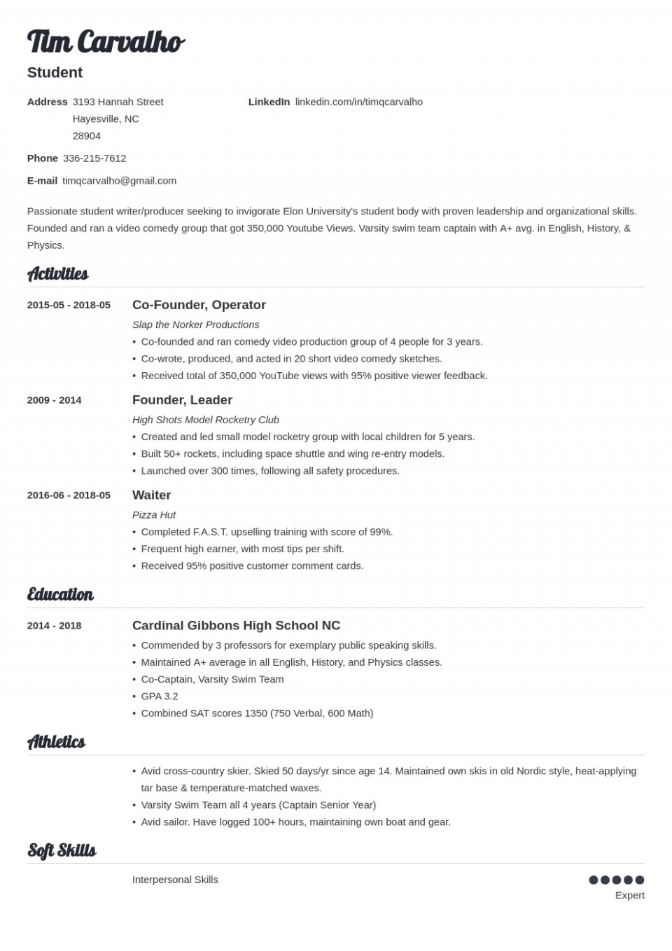009 Top College Admission Resume Template High Def  Microsoft Word Application Download960