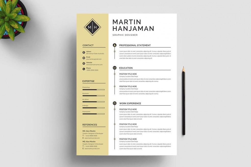 009 Top Creative Resume Template Free Microsoft Word High Def  Download For FresherLarge