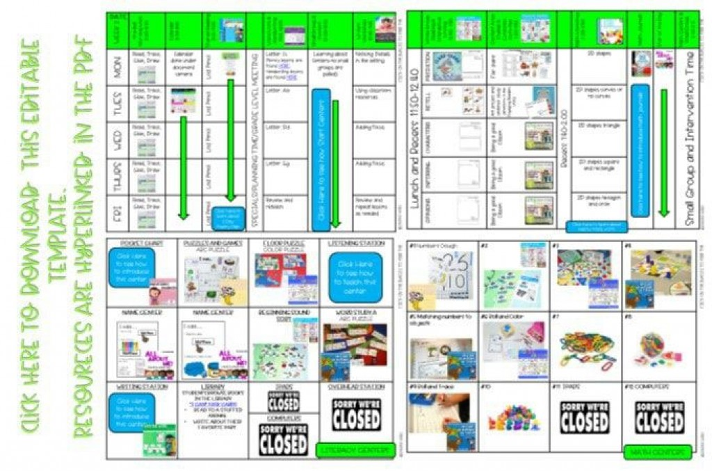 009 Top Editable Lesson Plan Template Kindergarten Photo  FreeLarge