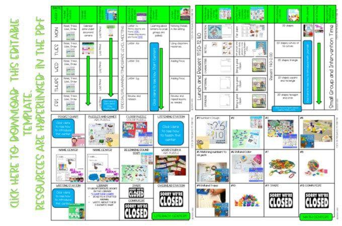 009 Top Editable Lesson Plan Template Kindergarten Photo  FreeFull