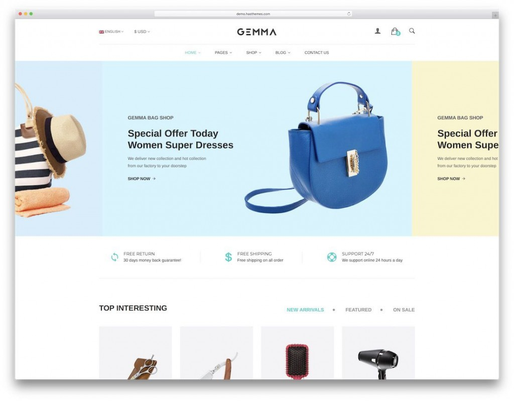 009 Top Free Commerce Website Template Sample  Wordpres Ecommerce Download Responsive Html CsLarge