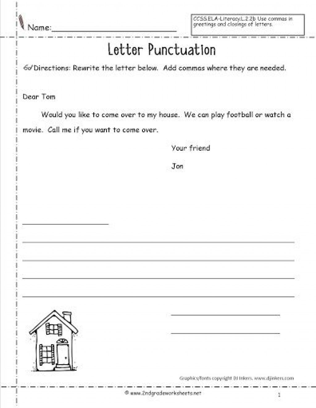 009 Top Free Letter Writing Template 2nd Grade Highest Quality Large