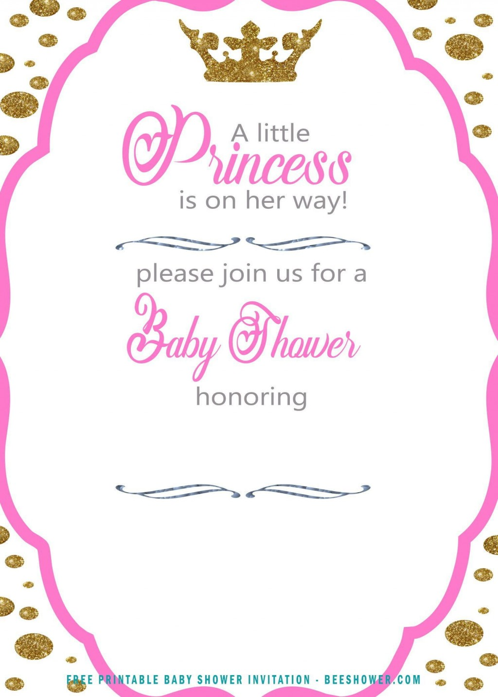 009 Top Free Princes Baby Shower Invitation Template For Word High Definition Large