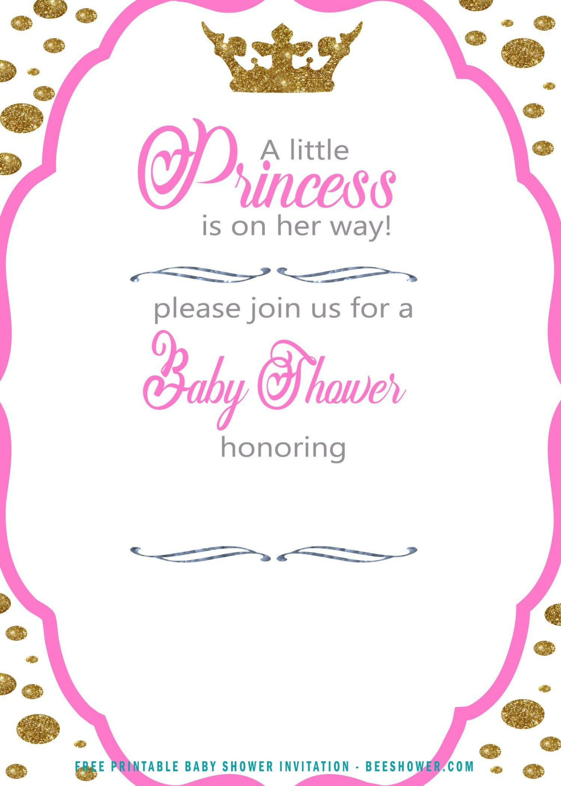 009 Top Free Princes Baby Shower Invitation Template For Word High Definition 1920