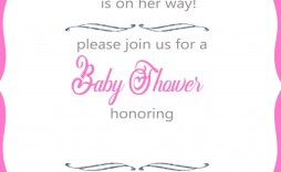 009 Top Free Princes Baby Shower Invitation Template For Word High Definition