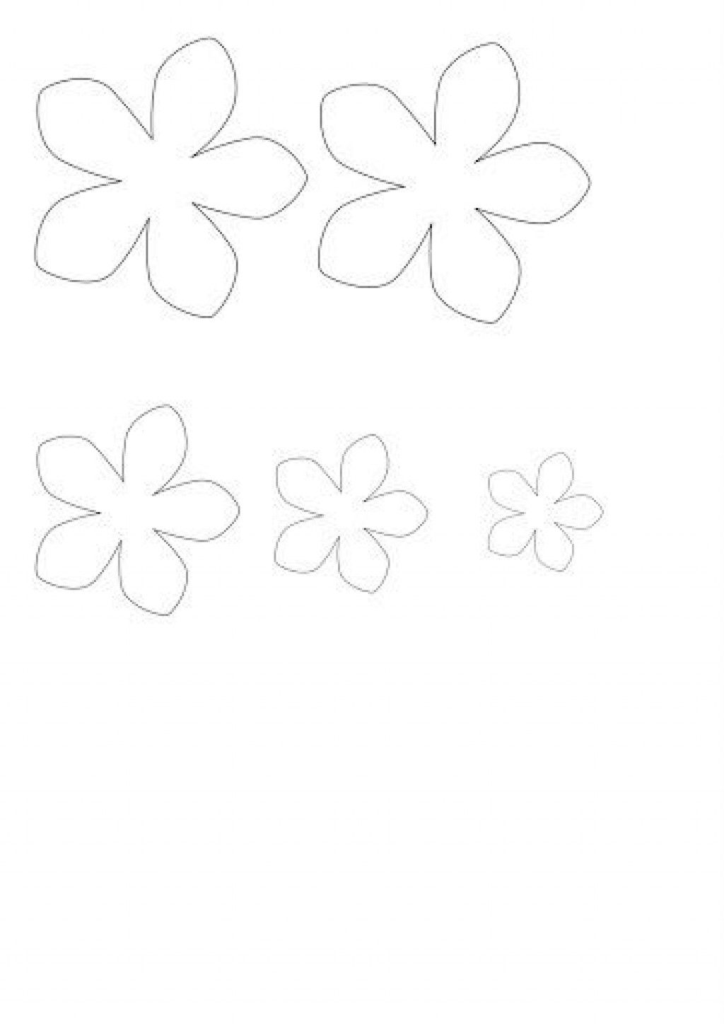 009 Top Free Small Paper Flower Petal Template High Def  TemplatesLarge