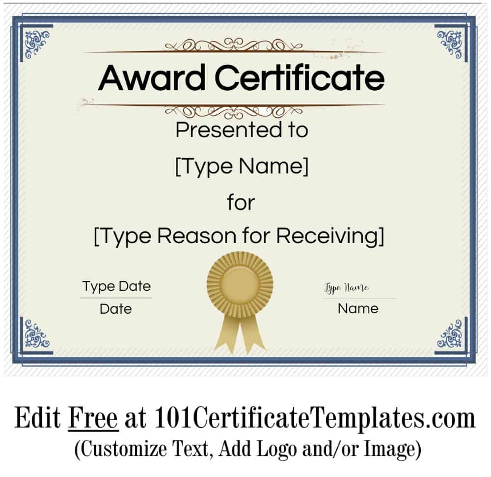 009 Top Free Template For Certificate Photo  Certificates Online Of Completion Attendance Printable ParticipationFull