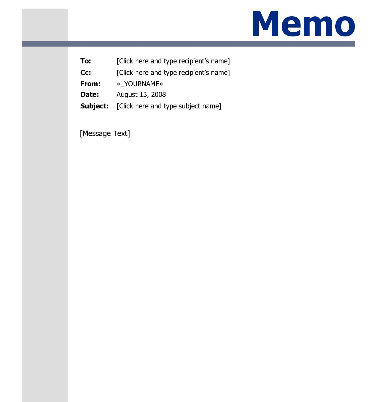 009 Top Memo Template For Word Highest Quality  Free Cash Sample 2013Full