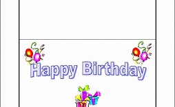 009 Top Microsoft Word Card Template Picture  Birthday Half Fold Place Download Free