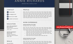 009 Top Microsoft Word Resume Template Download Sample  Modern M Free Office 2007