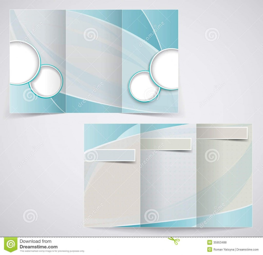 009 Top M Word Blank Brochure Template Concept  Microsoft Tri FoldLarge