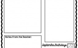 009 Top Newsletter Template For Teacher Highest Quality  Teachers To Parent Free Printable Digital