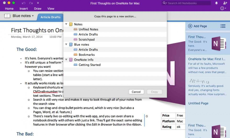 009 Top Onenote Project Management Template Free Example  Download960