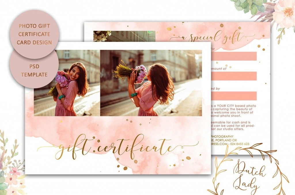 009 Top Photography Session Gift Certificate Template Picture  Photo FreeLarge