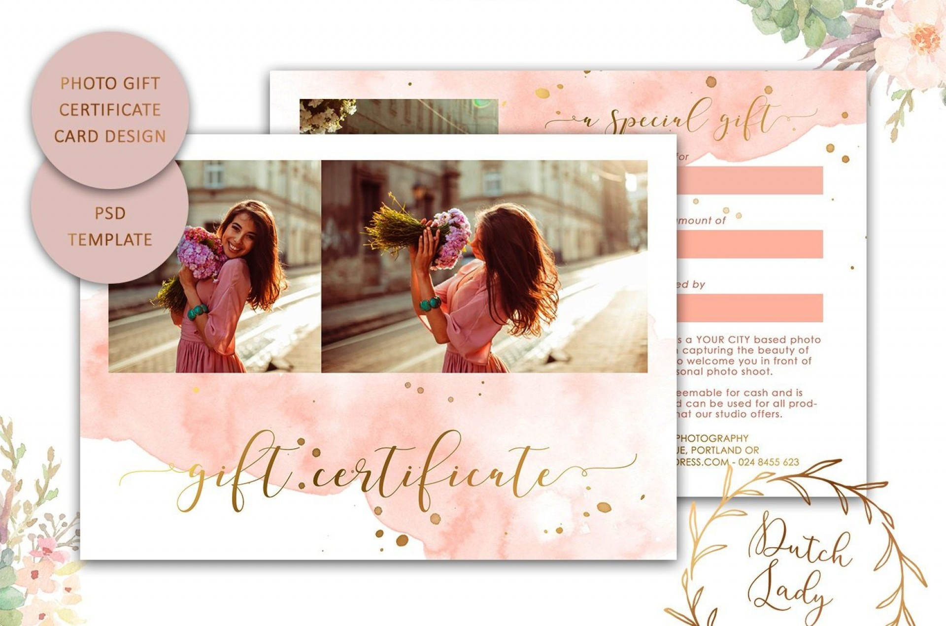 009 Top Photography Session Gift Certificate Template Picture  Photo Free1920