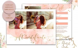 009 Top Photography Session Gift Certificate Template Picture  Photo Free