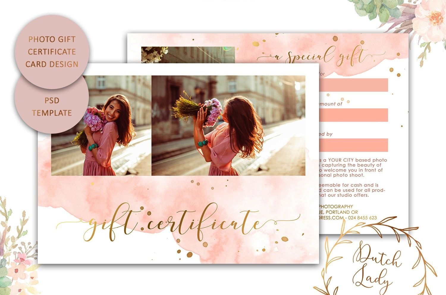 009 Top Photography Session Gift Certificate Template Picture  Photo FreeFull