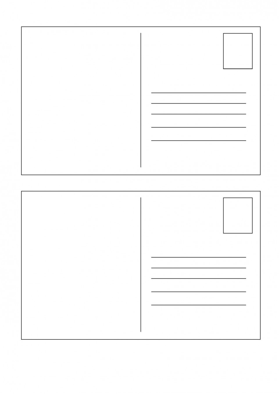 009 Top Postcard Layout For Microsoft Word Photo  Busines Template960