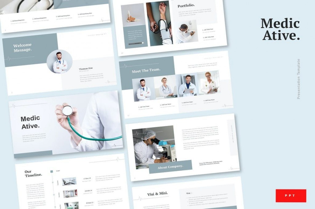 009 Top Powerpoint Presentation Template Free Download Medical Concept  AnimatedLarge