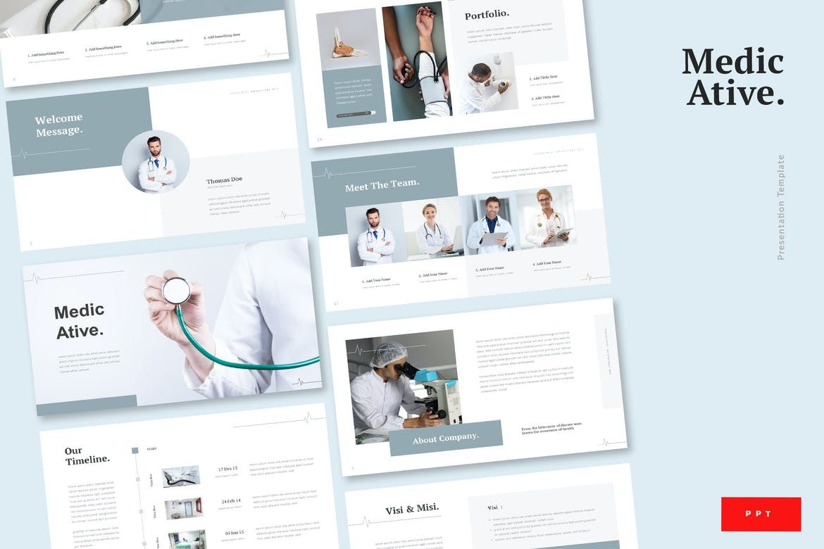 009 Top Powerpoint Presentation Template Free Download Medical Concept  AnimatedFull
